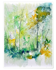 Premium poster watercolour forest