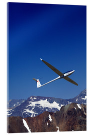 Acrylic glass  Gliding over the snowy mountains - David Wall