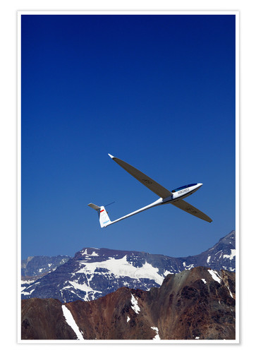 Premium poster Gliding over the snowy mountains