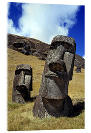 Acrylic print  Moai on Easter Island - Ric Ergenbright