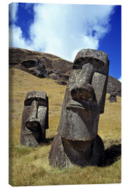 Canvas print  Moai on Easter Island - Ric Ergenbright
