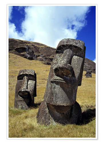 Premium poster Moai on Easter Island