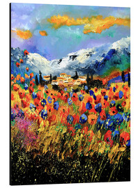 Alu-Dibond  Field with wildflowers - Pol Ledent