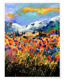 Premium poster Field with wildflowers