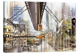 Canvas print  Wuppertal Collage - Städtecollagen
