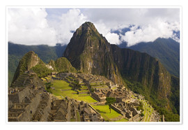 Premium poster Machu Picchu before mountainscape