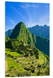 Foam board print  Inca city Machu Picchu - Jerry Ginsberg
