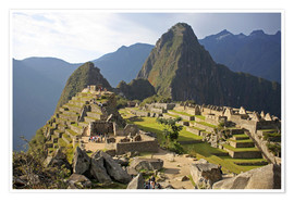 Premium poster View of Machu Picchu