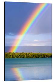 Aluminium print  Rainbow on Lake Naknek - Jerry Ginsberg