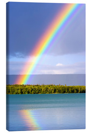 Canvas  Rainbow at Lake Naknek - Jerry Ginsberg