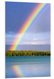 Foam board print  Rainbow on Lake Naknek - Jerry Ginsberg