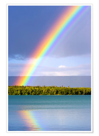 Poster  Rainbow at Lake Naknek - Jerry Ginsberg
