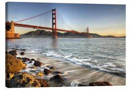 Canvas print  View to the Golden Gate Bridge - David Svilar