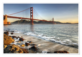 Poster  View to Golden Gate Bridge - David Svilar