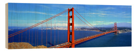 Wood print  Golden Gate bridge from above - Ric Ergenbright