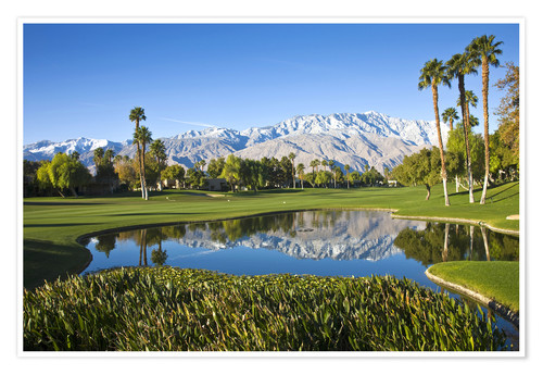 Premium poster Golf course and mountains, Palm Springs