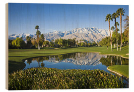 Wood print  Golf course in Palm Springs - Walter Bibikow