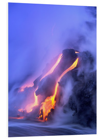Foam board print  Eruption of Kilauea volcano - Douglas Peebles