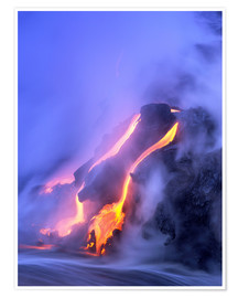 Premium poster  Eruption of Kilauea volcano - Douglas Peebles