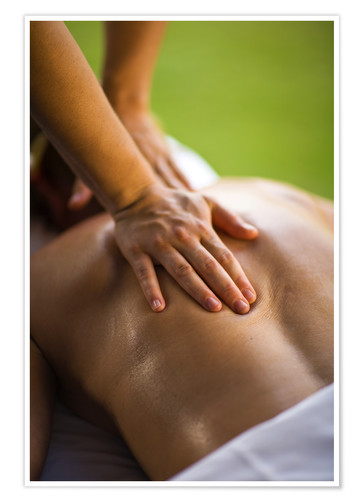 Premium poster Relaxing massage