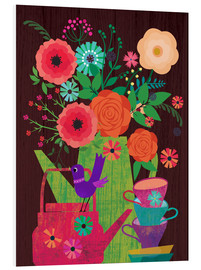 Foam board print  Flowers in the coffee pot - Elisandra Sevenstar