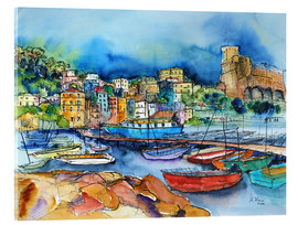 Acrylic glass  Lerici Liguria At the harbor - Hartmut Buse