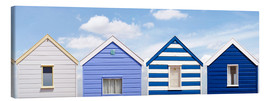 Canvas  Blue beach huts, England - Olaf Protze