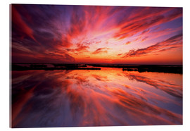 Acrylic print  Red sunset - Jay O´Brien