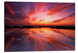 Alu-Dibond  Sunset reflected on the water - Jay O´Brien