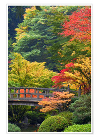 Poster  Wooden bridge at the Japanese Garden - Don Paulson