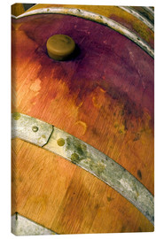 Canvas print  Old oak barrel with red wine - Janis Miglavs