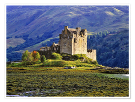 Premium poster Eilean Donan Castle in the Scottish Highlands