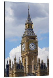 Alu-Dibond  The Big Ben and the Palace of Westminster - David Wall