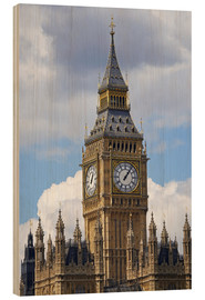 Wood print  Big Ben and Westminster Palace - David Wall