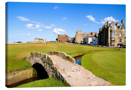 Canvas  View of the Old Course at St. Andrews - Bill Bachmann