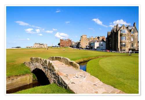 Premium poster View of the Old Course at St. Andrews