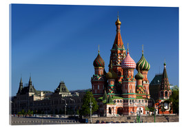Acrylic print  St. Basil's Cathedral in Moscow - Walter Bibikow