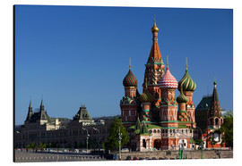 Aluminium print  St. Basil's Cathedral in Moscow - Walter Bibikow