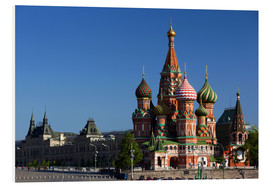Foam board print  St. Basil's Cathedral in Moscow - Walter Bibikow