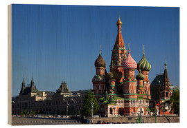 Wood print  St. Basil's Cathedral in Moscow - Walter Bibikow