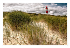 Premium poster Lighthouse List East (Sylt)
