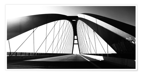 Premium poster Fehmarnsund Bridge, Germany