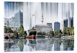 Acrylic print  Hamburg Germany World Skyline - Städtecollagen