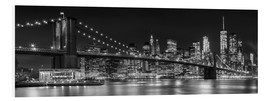 Foam board print  New York City Skyline - Melanie Viola