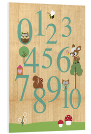 Foam board print  Educational Numbers - learn to count - GreenNest