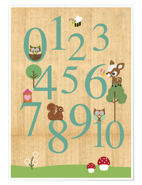 Poster  Educational Numbers - learn to count - GreenNest