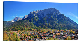 Canvas print  Mittenwald with Karwendel mountain - FineArt Panorama