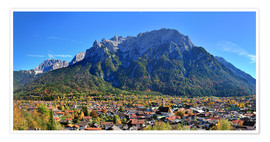 Premium poster Mittenwald with Karwendel mountain
