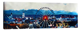 M. Bleichner - Munich Oktoberfest with Alps Panorama