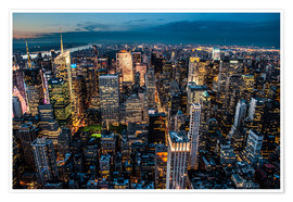 Premium poster New York - sea of lights